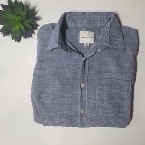 American Eagle Chambray Style Button Down Top